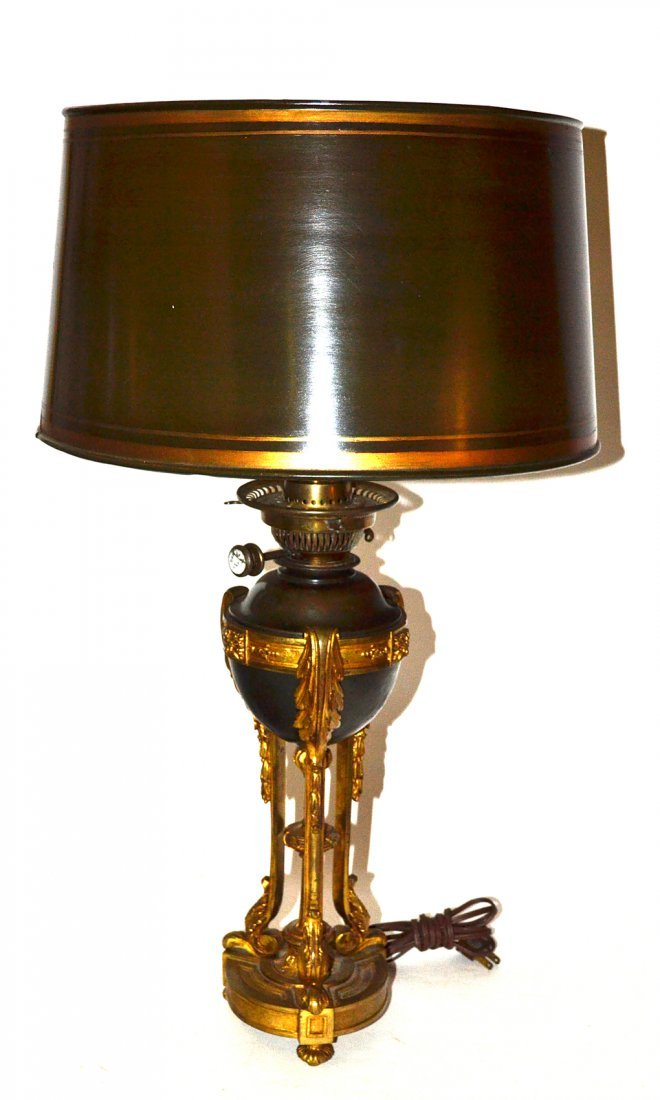 Antique French Empire Style Bronze Lamp