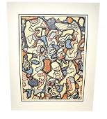 Jean Dubuffet Color Lithograph Samedi Tantots
