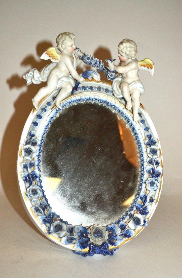 Oval Cherub Vanity Mirror