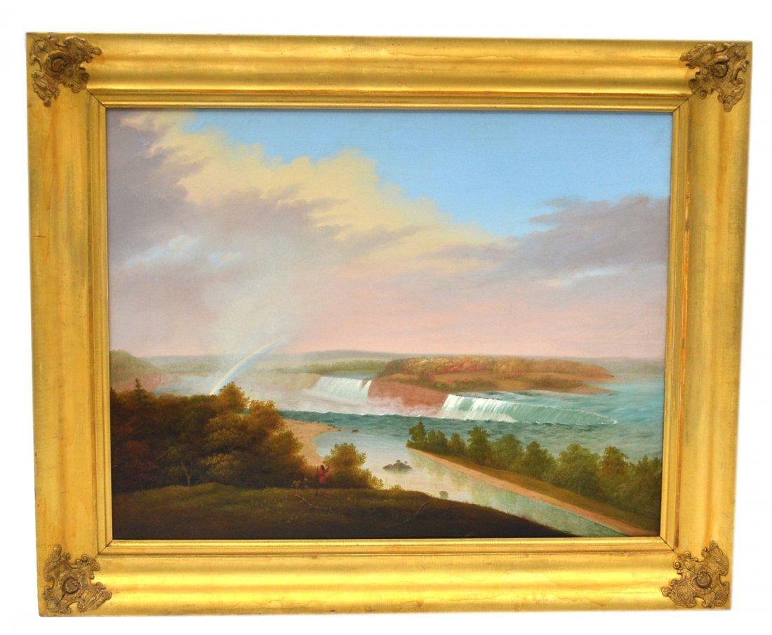 "John Samuel Blunt Oil on Canvas ""Niagara Falls"""
