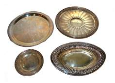 Assorted Sterling Silver Serving Trays
