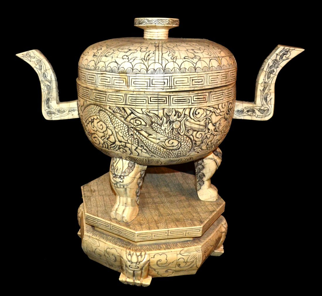 Bone Inlaid Vessel
