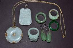 Assorted Hard Stone Jewelry Articles