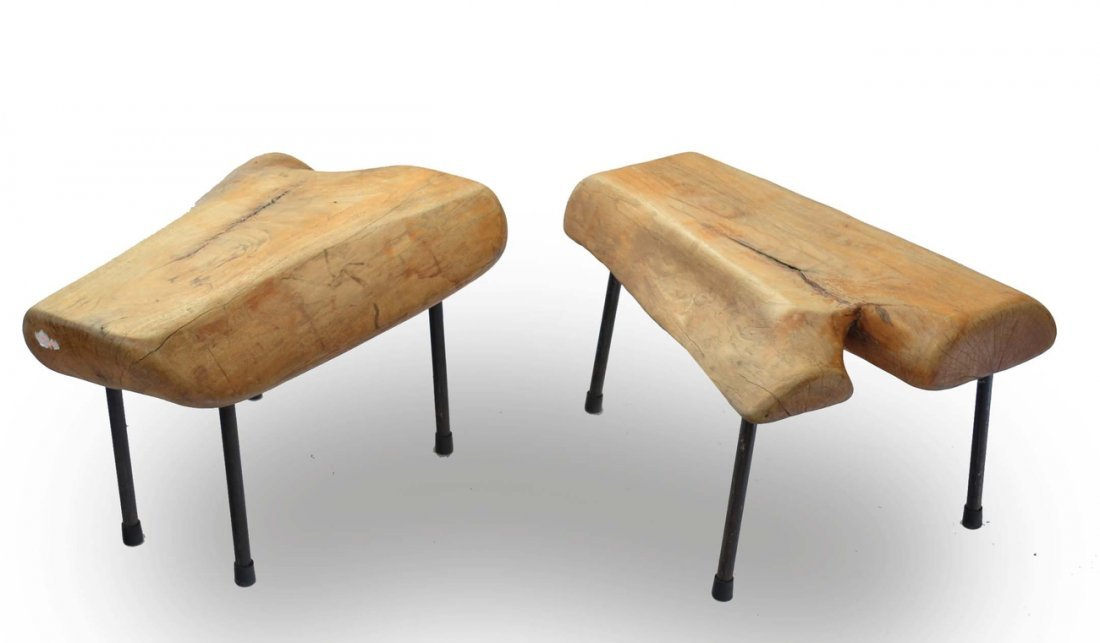 Pair of Modern Freeform Benches/Tables