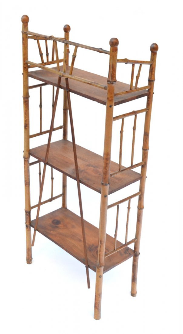 Antique Bamboo Etagere - 4