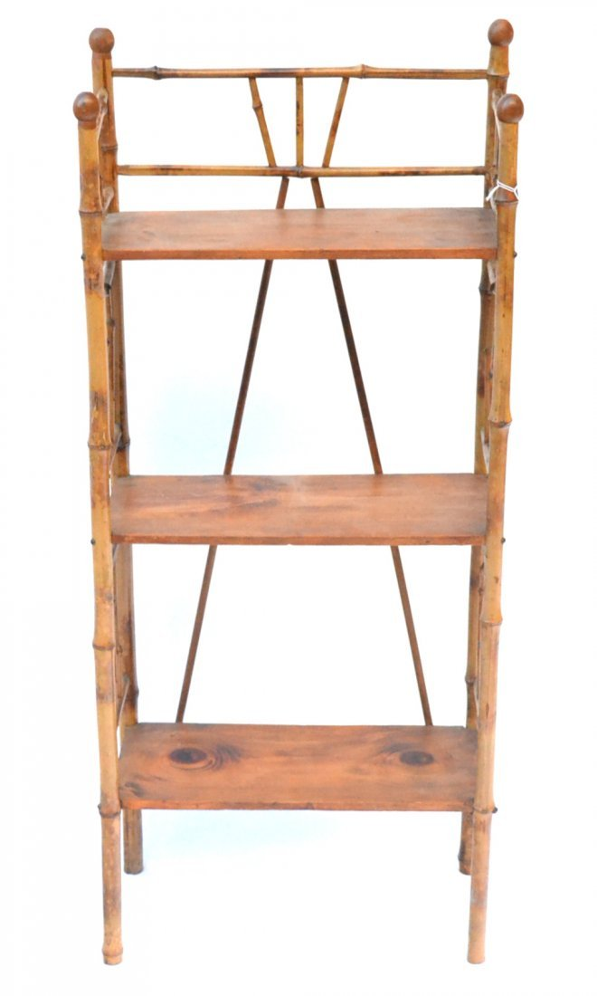 Antique Bamboo Etagere - 5