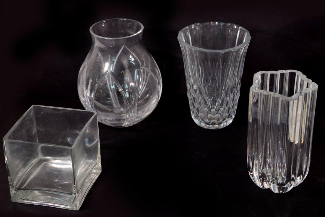 Four Crystal Vases