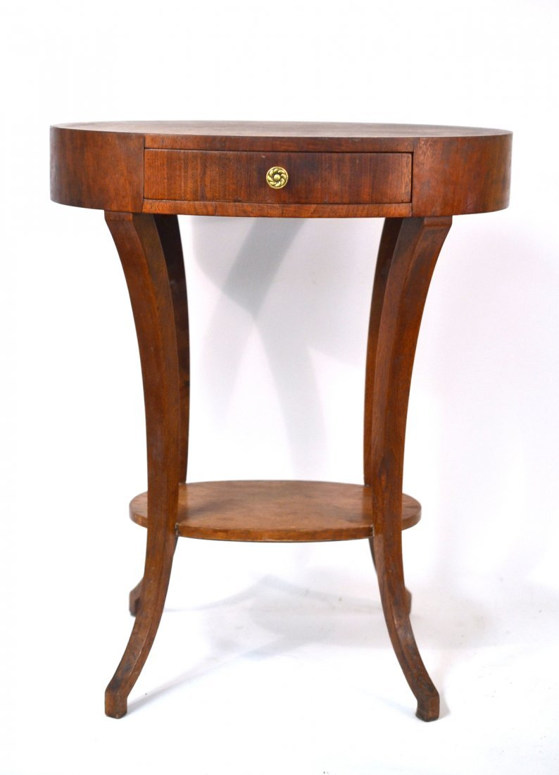 Oval Two Tier Table