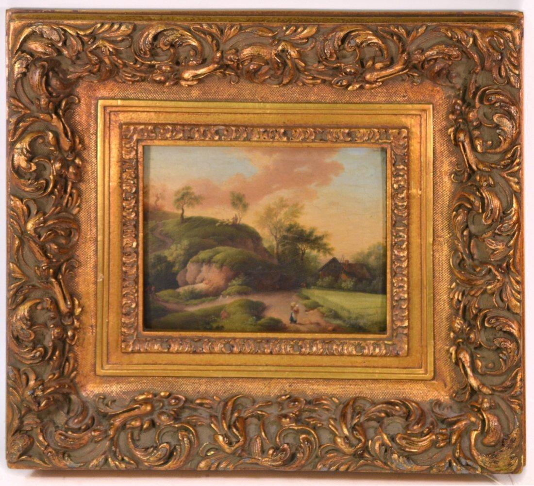 Johannes Janson (School of) - Oil on Board-  Landscape