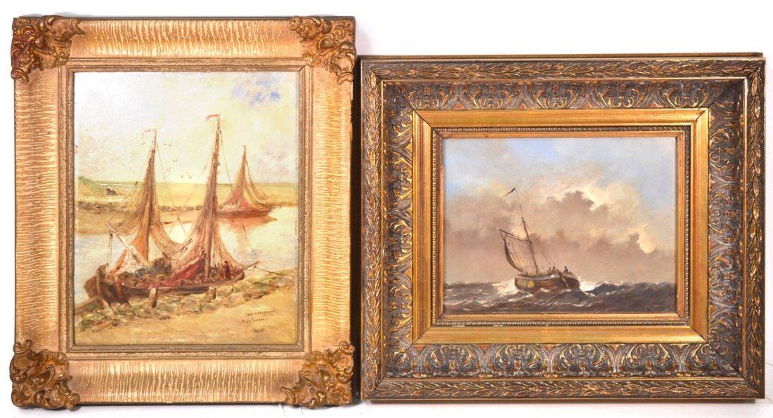 M. Muijvenaar and After H. Koekkoek  - Two Oils