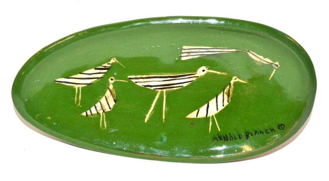 Arnold Blanch Modern Studio Pottery Dish