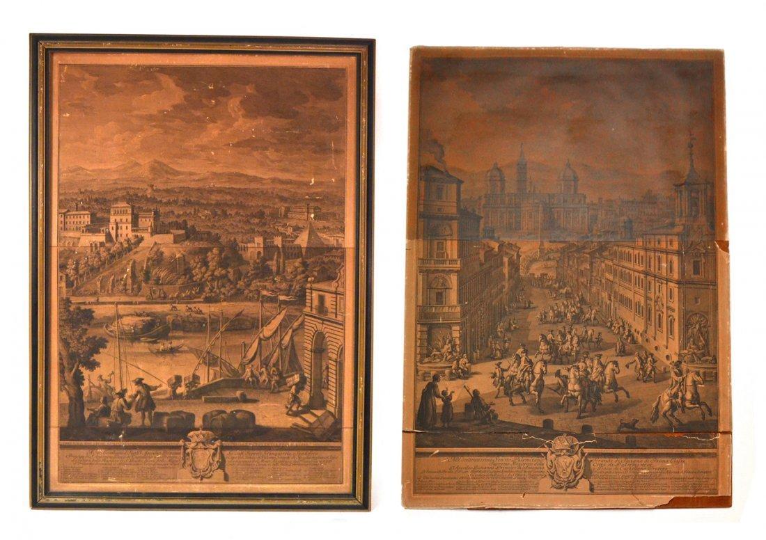 Two Prints -  Port Scene