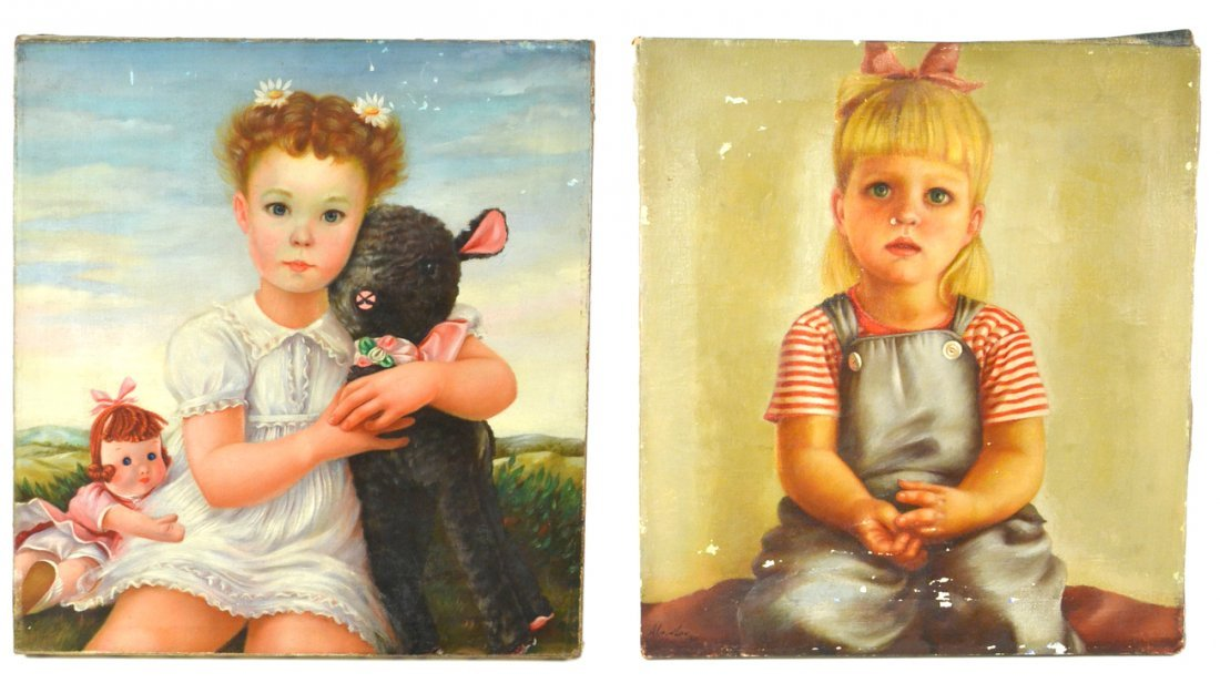 Two Portraits of Girls