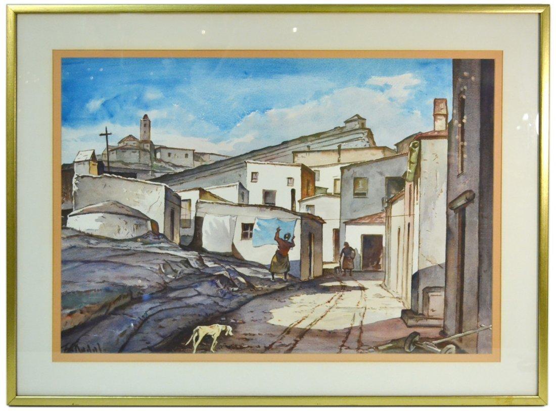 F. Nadal - Village Scene