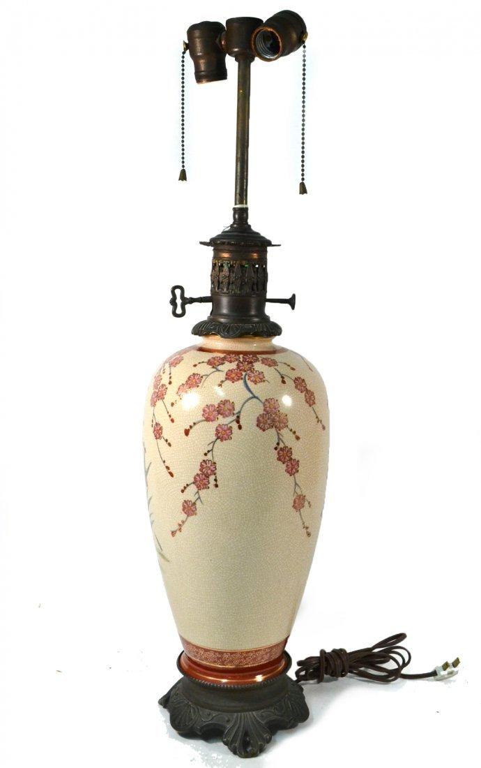 Asian Vase Mounted as Lamp