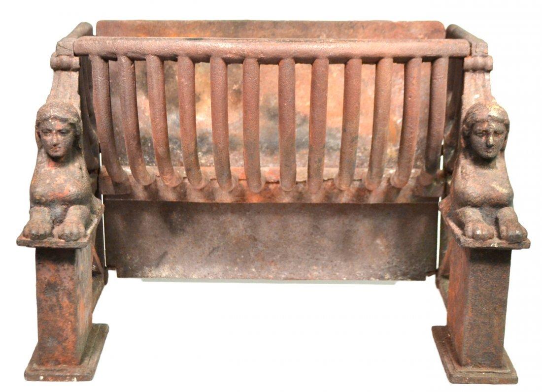 Antique Fireplace Coal Grate