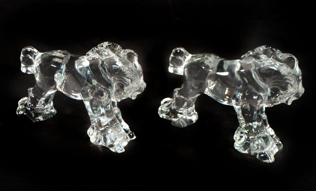 Pair of Steuben Crystal Trojan Horses
