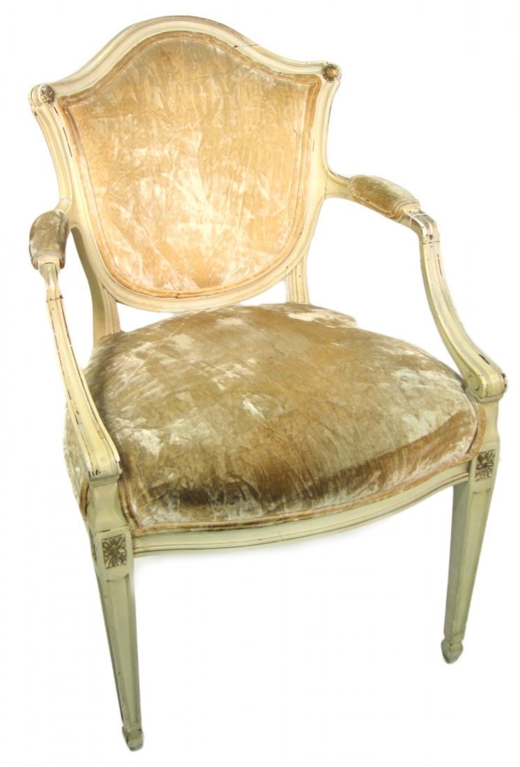 French Painted Armchair