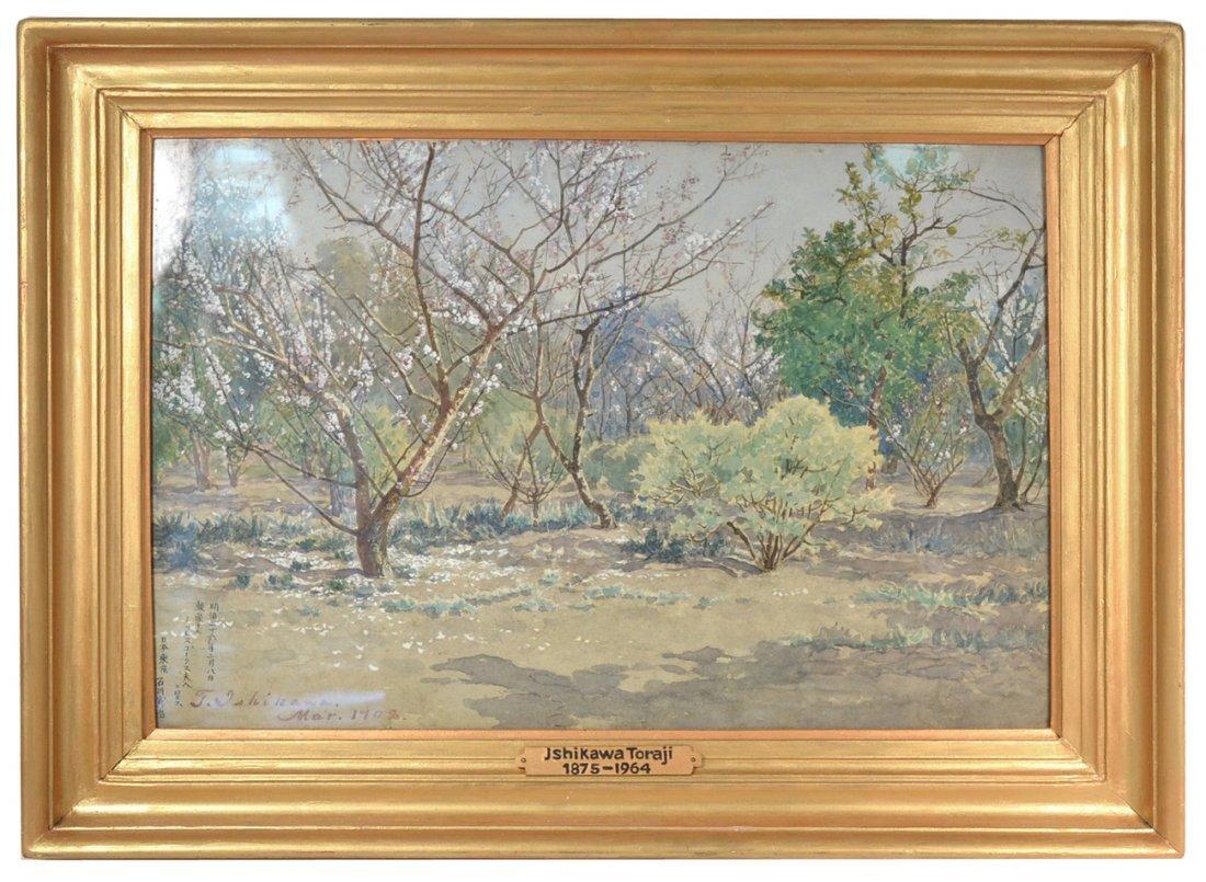 Ishikawa Toraji Watercolor - Landscape