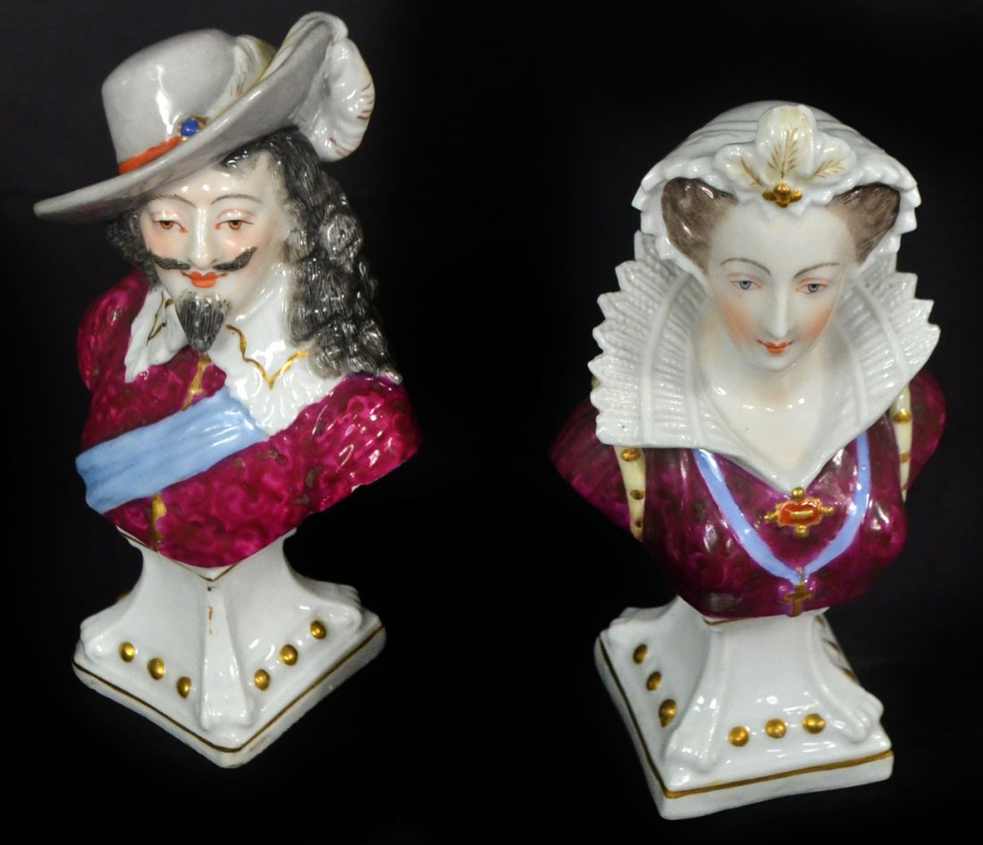 Pair of Meissen Busts - Royalty