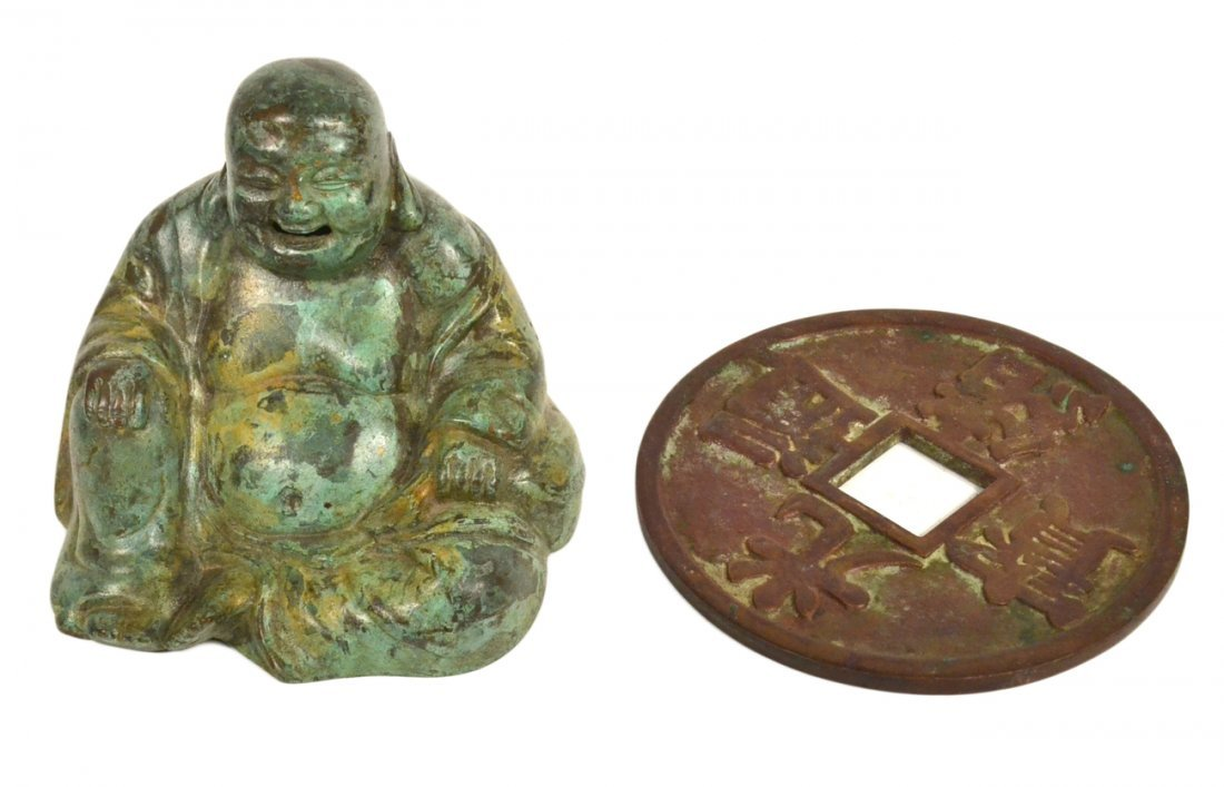 Two Chinese Bronze Decorations