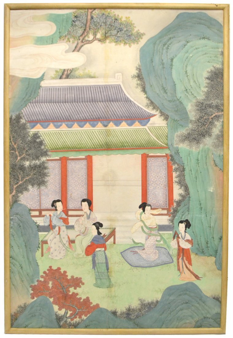Chinese 19th Century Watercolor on Paper
