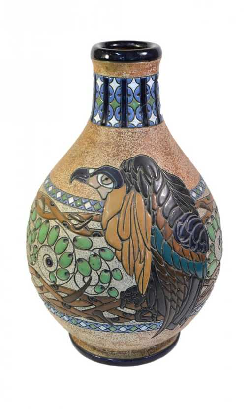 Czech Amphora Ceramic Vase