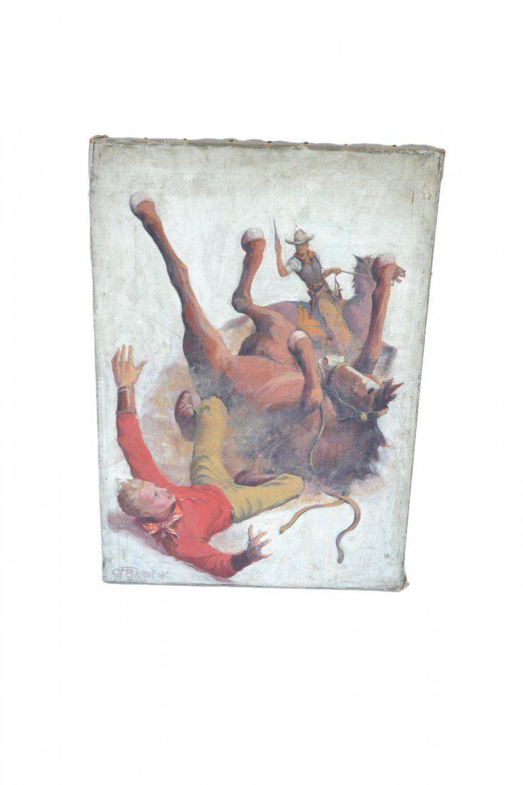 C. F. Brandton, Oil on Canvas - Cowboy
