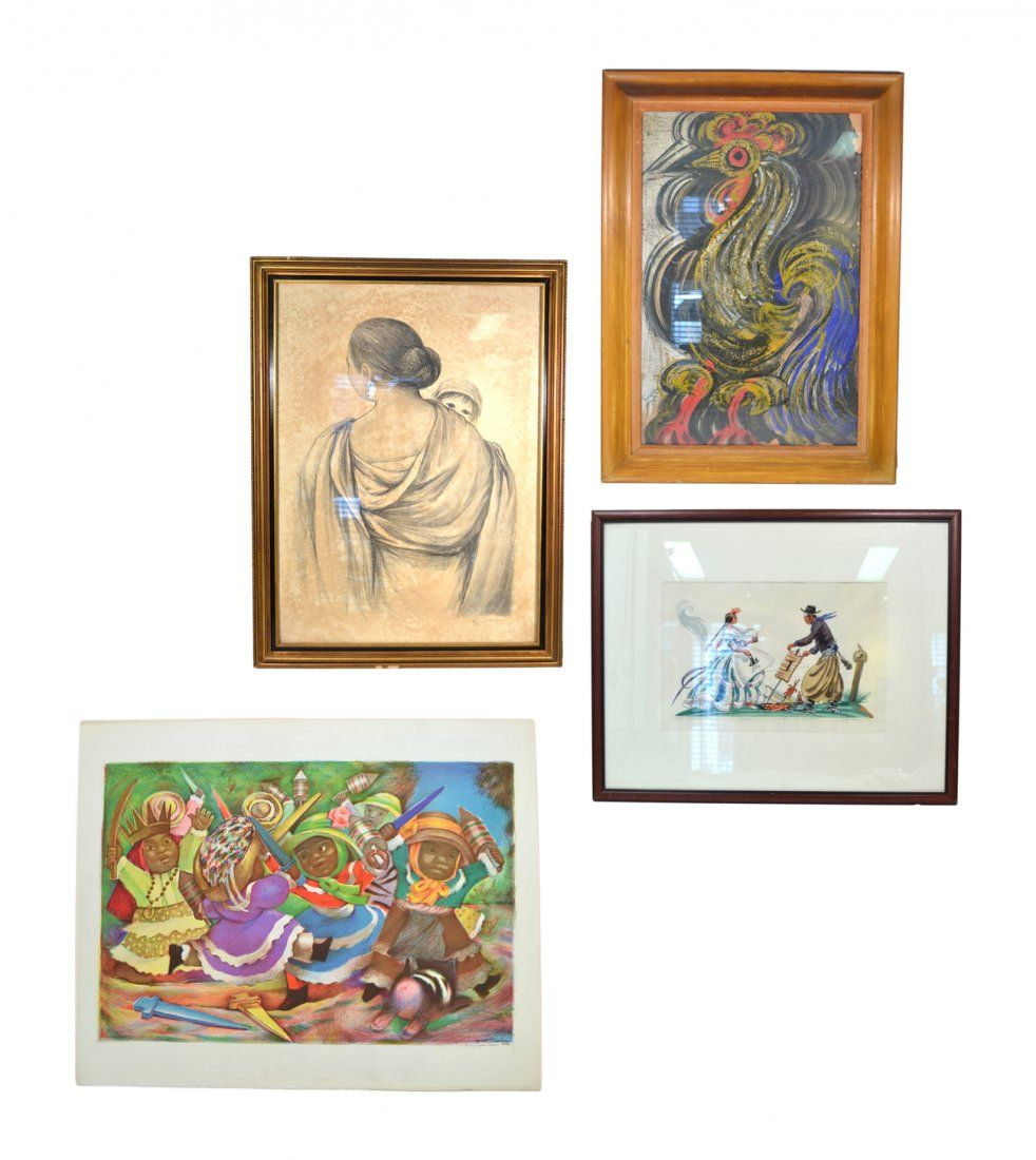 Four Modern Latin American Artworks