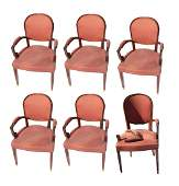 Set of 6 Modern Open Armchairs