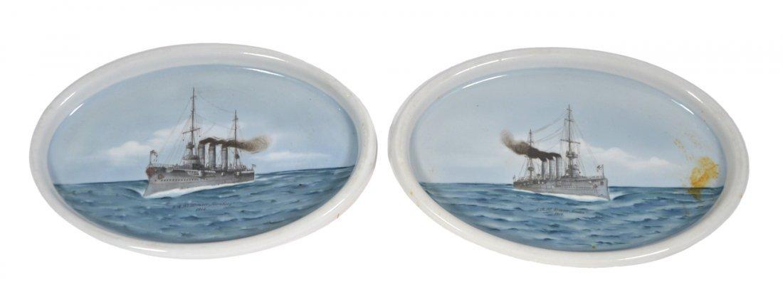 Pair of German Glazed Ceramic Platters