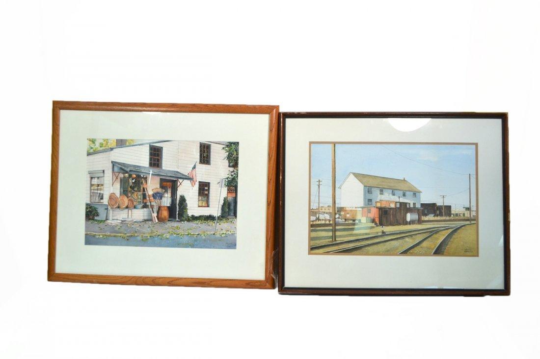 Two Arlene Cornell Watercolors