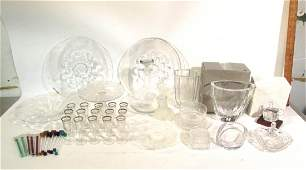Lot Approx Fourty Glass and Crystal Pc