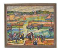 Jerome Blum, Oil on Linen - Canal Scene
