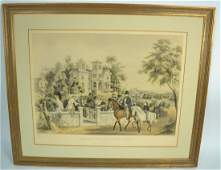 Currier  Ives Hand Colored Lithograph