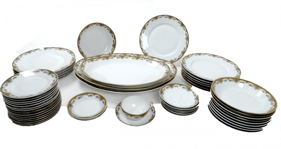 Lot of 50+ Limoges France Coronet Dishes