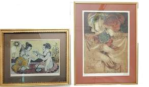 Two Prints by Alvar and Louise August