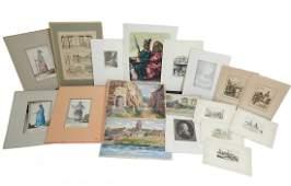 Asst'd Intl Vintage Works on Paper