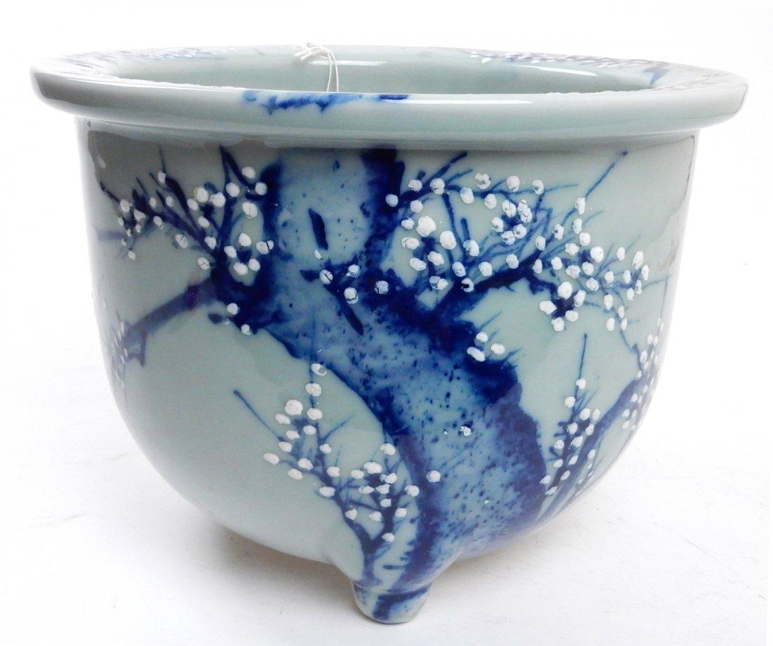Antique Japanese Ceramic Jardiniere - 2