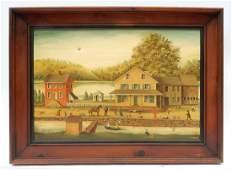 Jean H. Halter, Figural Town Scene