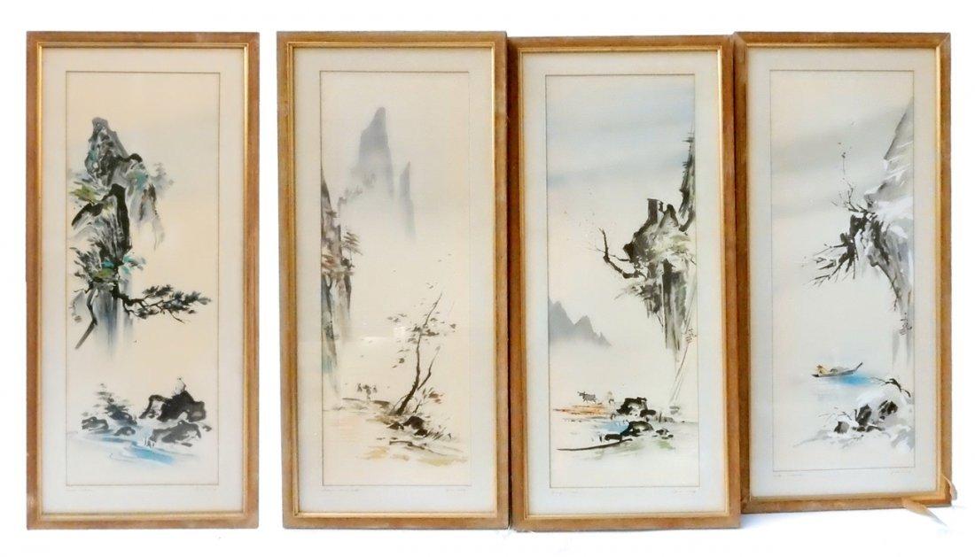"Tyrus Wong, ""Four Seasons"" Watercolors"