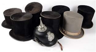 Assorted Antique Top Hats