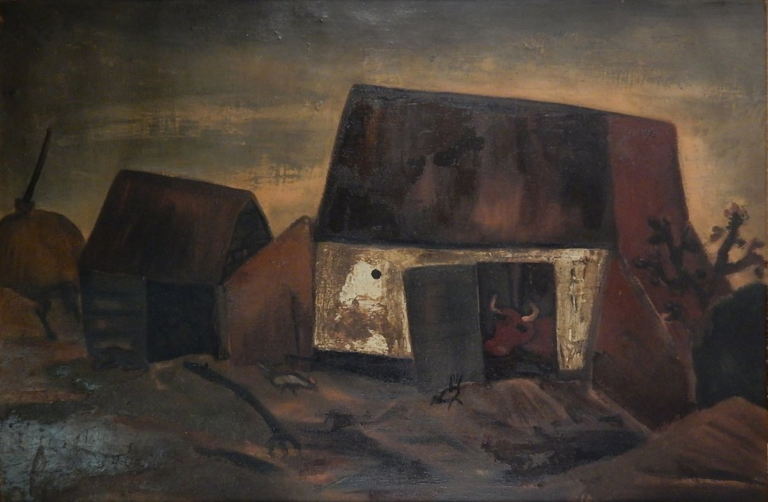 "Constant Permeke, Oil on Canvas - ""Ferme"""