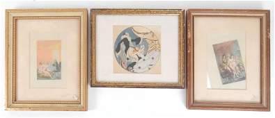 Three Assorted Works of Art