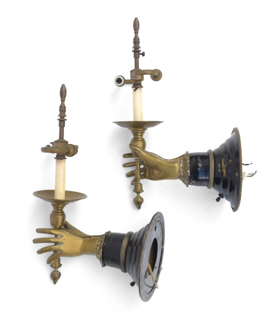 Pair of Hand-Form Sconces