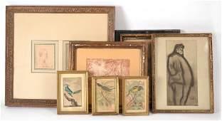 Seven Assorted Prints