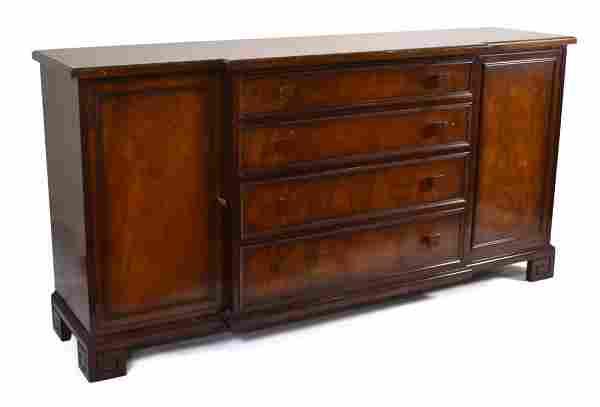 Asian-Style Mahogany Sideboard