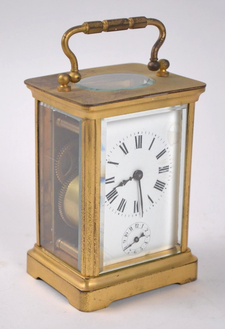 French Gilt Bronze Carriage Clock