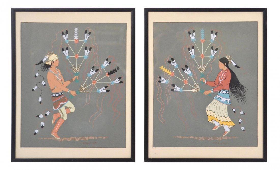Harrison Begay, Two Navajo Prints