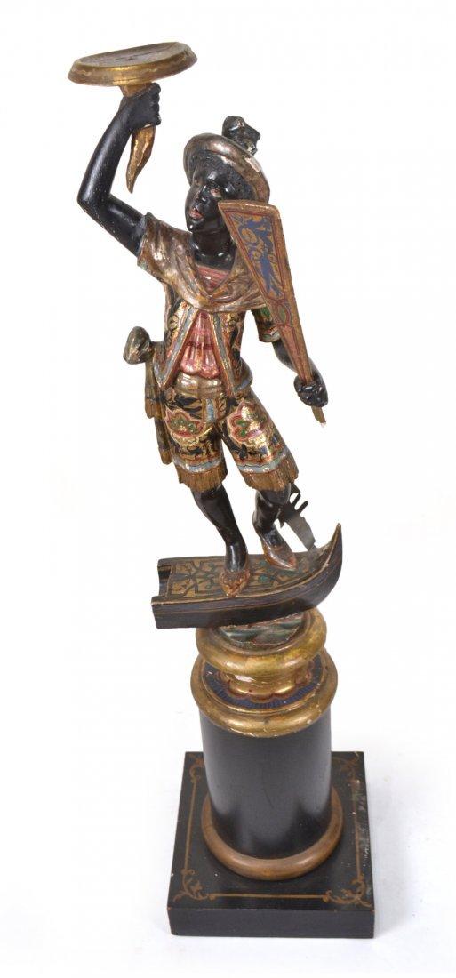 19th C. Polychrome Figure